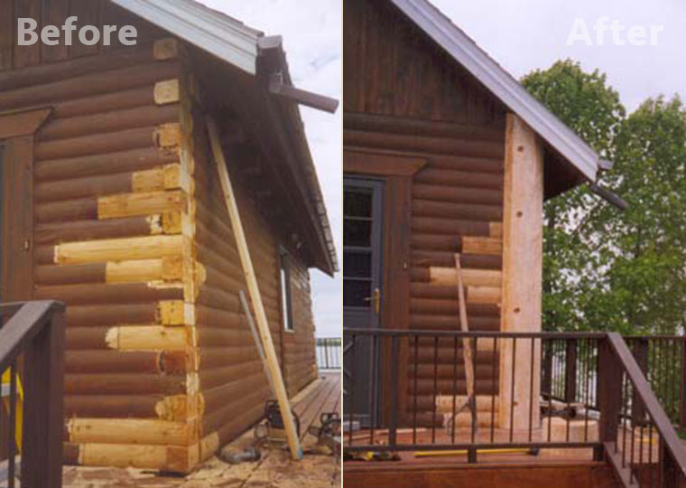 Log home and log cabin repair and restoration minnesota for Log cabin restoration